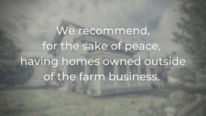 homes not owned in farm